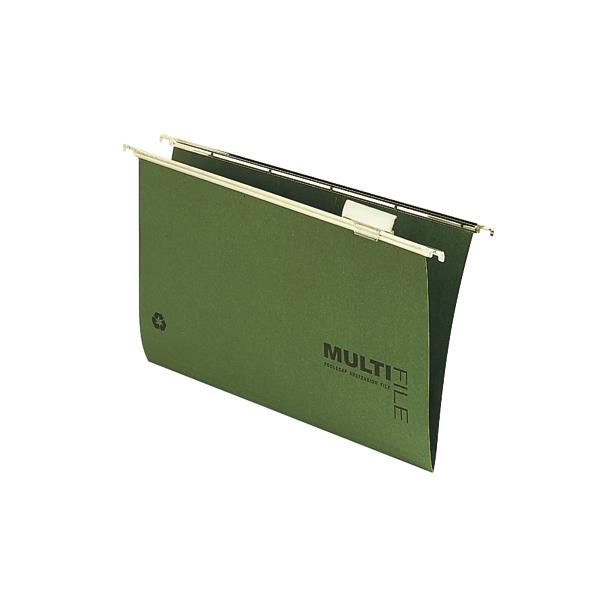 Rexel Multifile Suspension File V Base 15mm Foolscap Green (50 Pack) 78008