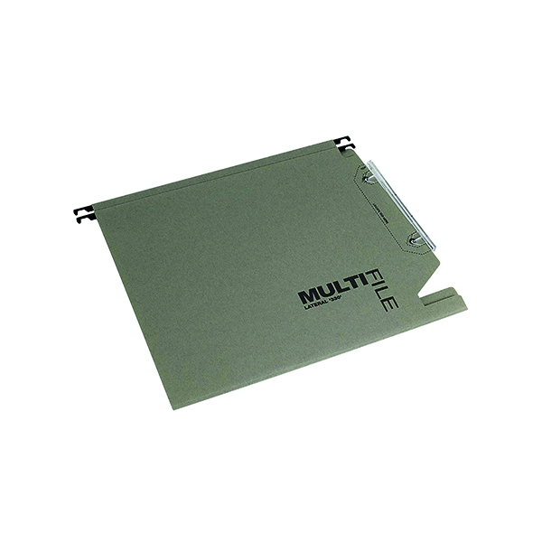 Lateral File Rexel Multifile 15mm Lateral File Manilla 150 Sheet Green (50 Pack) 78080
