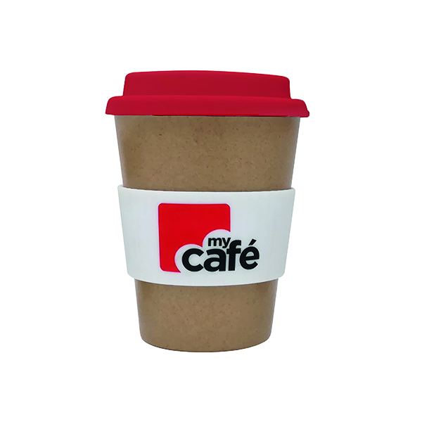 Disposable Cups & Accessories MyCafe Reusable Bamboo Cup 350ml
