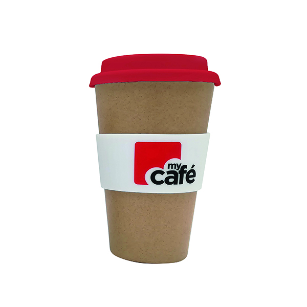 Disposable Cups & Accessories MyCafe Reusable Bamboo Cup 400ml