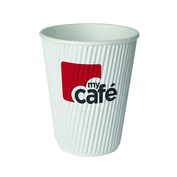 MyCafe 8oz Ripple Wall Hot Cups (500 Pack) HVRWPA08V