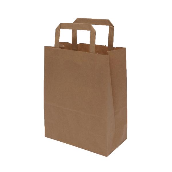 MyCafe Kraft SOS Carriers Internal Handles 175x95x215mm Brown (500 Pack) 304704
