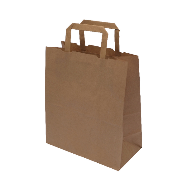 MyCafe Kraft SOS Carriers Internal Handles 220x100x250mm Brown (250 Pack) 304705