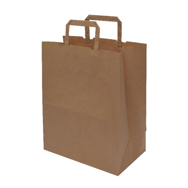 MyCafe Kraft SOS Carriers Internal Handles 250x140x305mm Brown (250 Pack) 304706