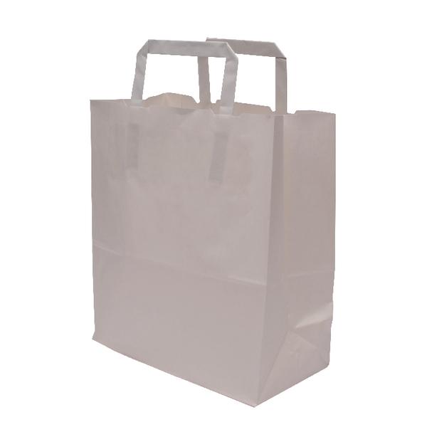 MyCafe Kraft SOS Carriers Internal Handles 220x100x250mm White (250 Pack) 304702