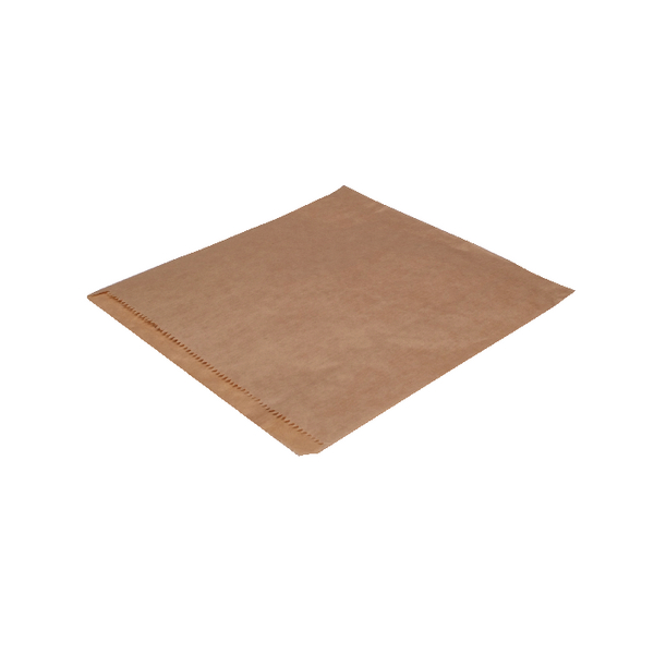 MyCafe Dependable Ribbed Kraft Bags Strung 215x215mm Brown (1000 Pack) 201203S