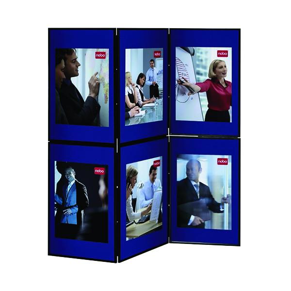 Display Panels Nobo Ultra Lightweight Showboard 6 Panel Grey/Blue 1900043