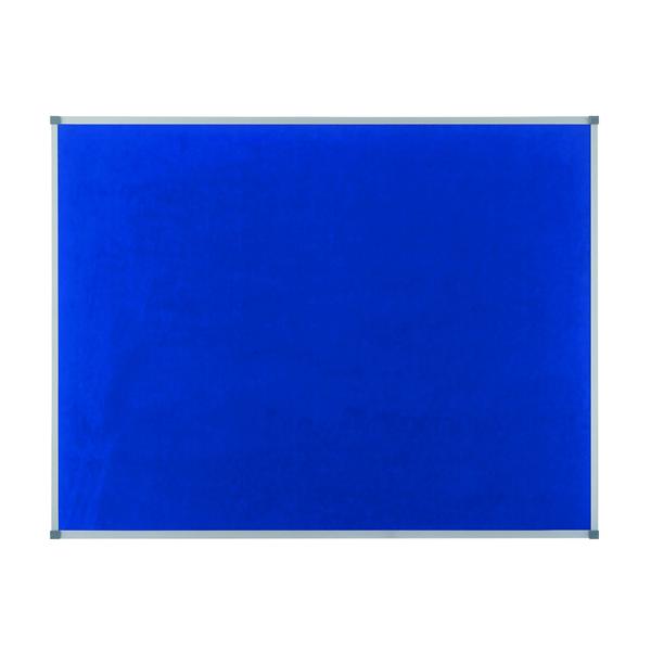 Felt Nobo Classic Blue Felt noticeboard, 1200 x 900mm