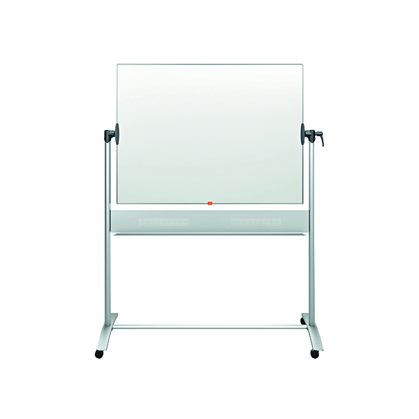 Magnetic Nobo Mobile Steel Magnetic Horizontal Whiteboard 900x1200mm 1901029