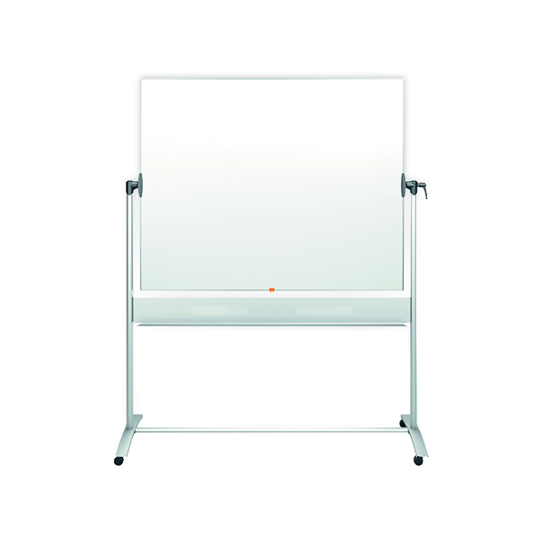 Nobo Mobile Steel Magnetic Horizontal Whiteboard 1200X1500mm 1901031