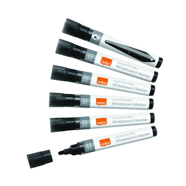 Nobo Liquid Ink Drywipe Marker Black (12 Pack) 1901073
