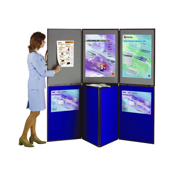 Display Panels Nobo Ultra Lightweight Showboard 7 Panel Grey/Blue 1901080