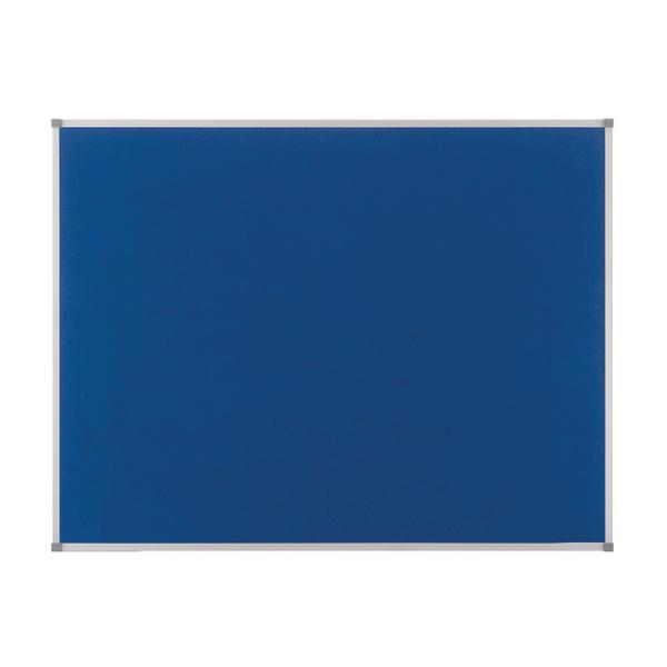 Felt Nobo Classic Blue Felt noticeboard, 1800 x 1200mm