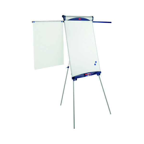 Nobo Shark Flipchart and Drywipe Easel Blue and Silver 1901918