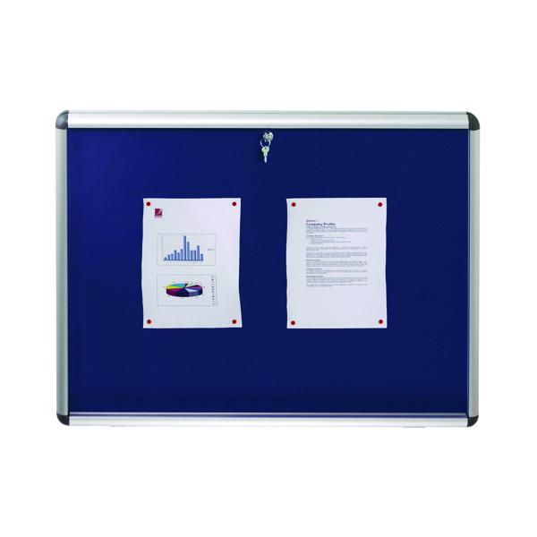 Nobo Internal Display Case A1 Blue Felt. 745 x 1025mm