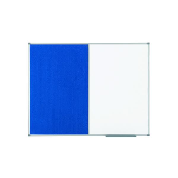 Felt Nobo Classic Combi Blue Felt/Steel noticeboard, 900 x 600mm