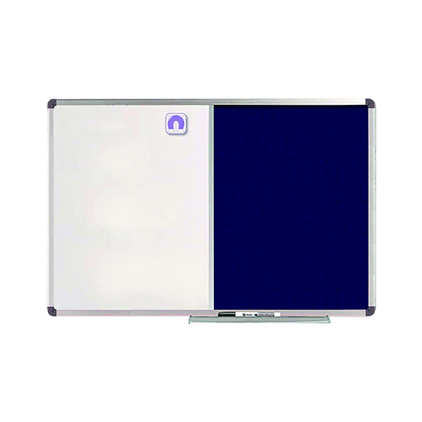 Nobo Classic Combi Blue Felt/Steel noticeboard, 1200 x 900mm