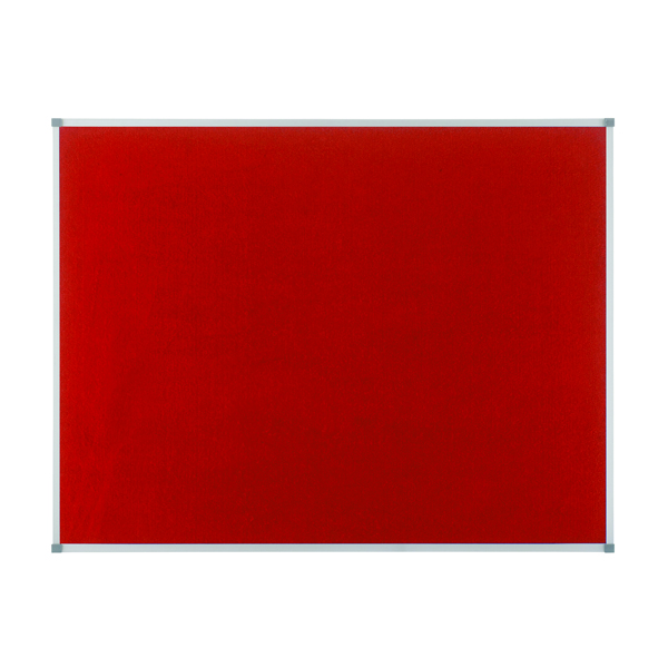 Nobo Classic Red Felt noticeboard, 900 x 600mm