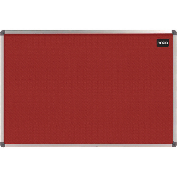 Felt Nobo Classic Red Felt noticeboard, 1200 x 900mm