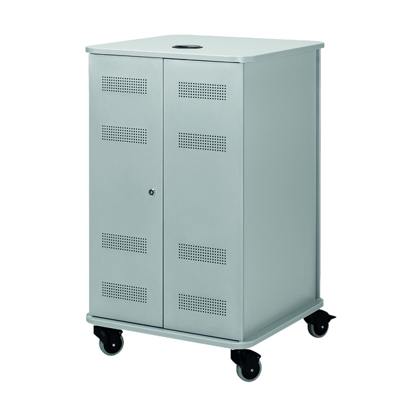 Various Nobo Grey Multimedia Projection Trolley Cabinet 1902339