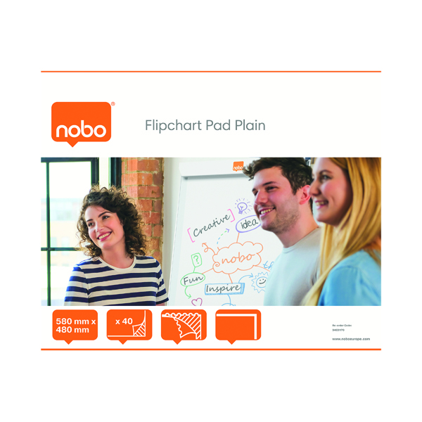 Unspecified Nobo Feint Ruled Flipchart Pad 584x485mm 40 Sheet (5 Pack) 34631166