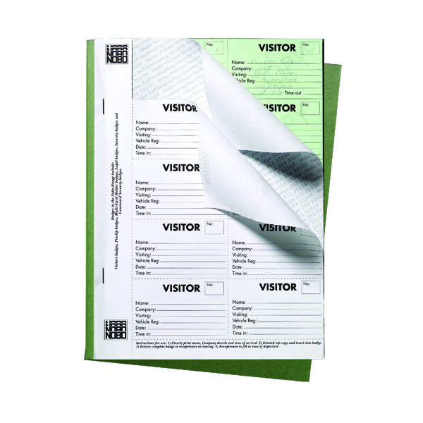 Unspecified Nobo 25 Page Visitors Badge Slip Book 35334941