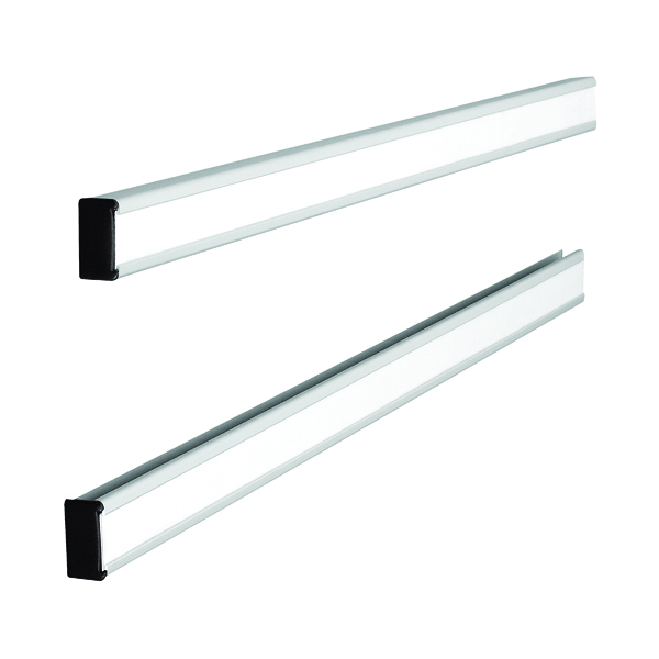Unspecified Nobo T-Card Metal Link Bars Size 24 772 x 13mm (2 Pack) 32938888