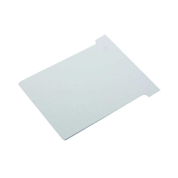 A80 Nobo T-Card Size 2 48 x 85mm White (100 Pack) 2002002
