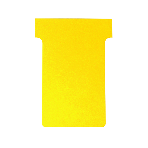 A80 Nobo T-Card Size 2 48 x 85mm Yellow (100 Pack) 2002004