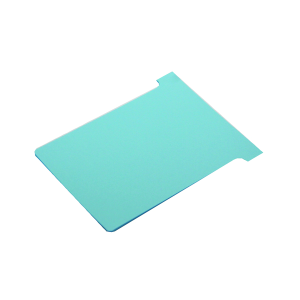 A80 Nobo T-Card Size 2 48 x 85mm Light Blue (100 Pack) 2002006