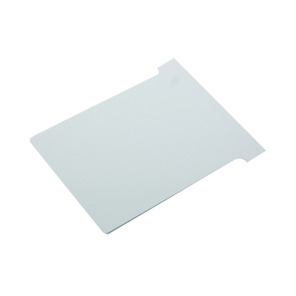 Nobo T-Card Size 3 80 x 120mm White (100 Pack) 2003002