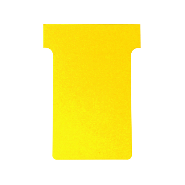 Nobo T-Card Size 3 80 x 120mm Yellow (100 Pack) 2003004