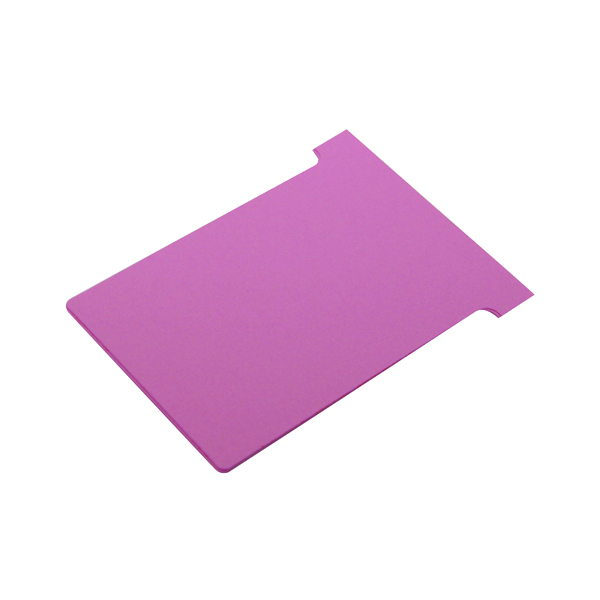 Nobo T-Card Size 3 80 x 120mm Pink (100 Pack) 2003008