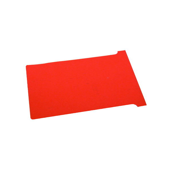 Nobo T-Card Size 3 80 x 120mm Red (100 Pack) 2003003