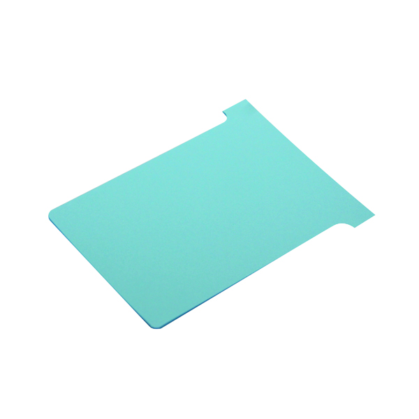 Size 3 Nobo T-Card Size 3 80 x 120mm Light Blue (100 Pack) 2003006