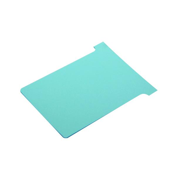 Nobo T-Card Size 3 80 x 120mm Light Blue (100 Pack) 2003006