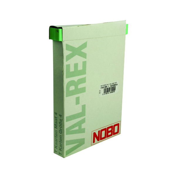 Size 4 Nobo T-Card Size 4 112 x 180mm Light Green (100 Pack) 32938924