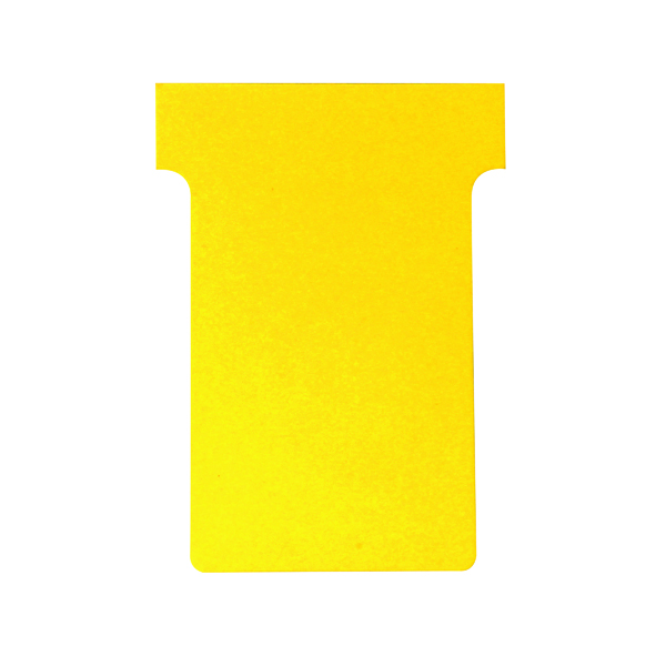 Size 4 Nobo T-Card Size 4 112 x 180mm Yellow (100 Pack) 2004004