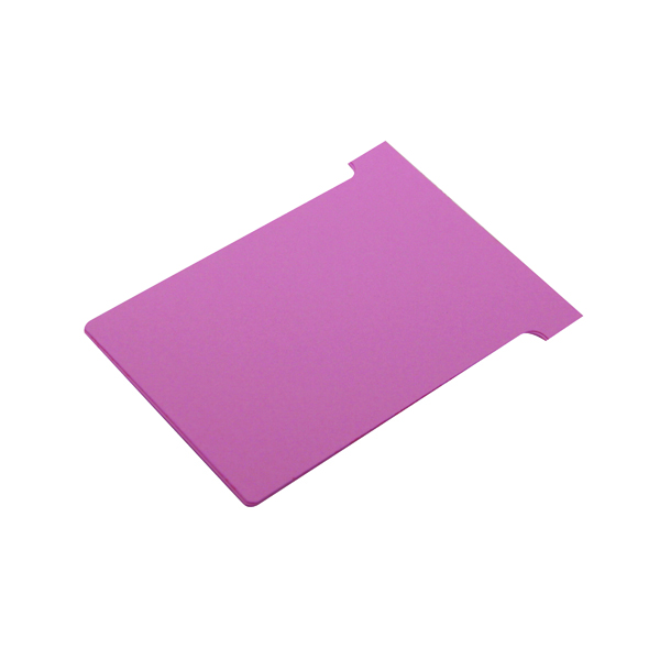 Size 4 Nobo T-Card Size 4 112 x 180mm Pink (100 Pack) 2004008