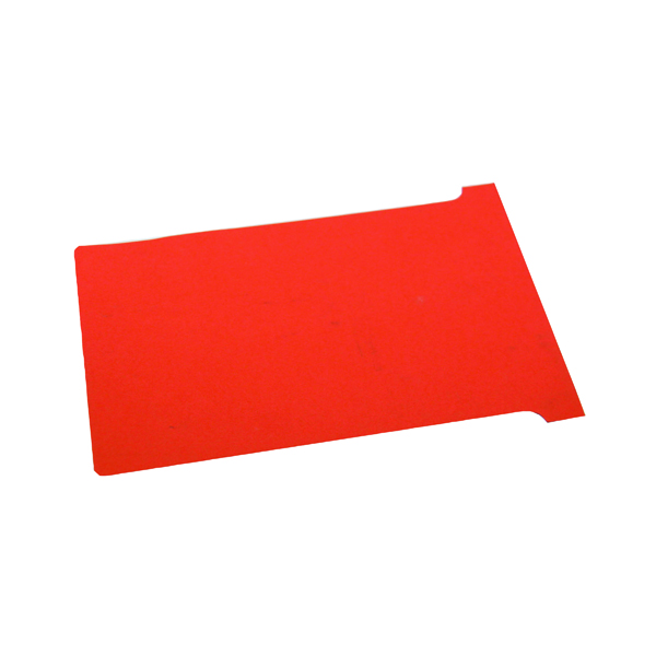 Nobo T-Card Size 4 112 x 180mm Red (100 Pack) 2004003