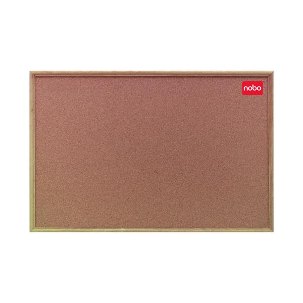 Cork Nobo Cork Classic Oak 1200x900mm Notice Board 37639004
