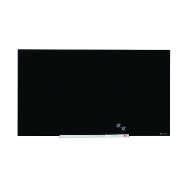 Glazed Nobo Widescreen Glass Whiteboard 45 inch Black 1905180