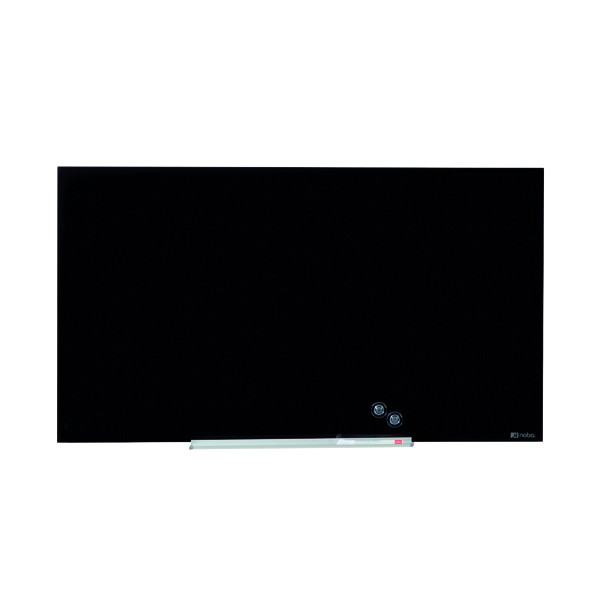 Glazed Nobo Widescreen Glass Whiteboard 57 inch Black 1905181