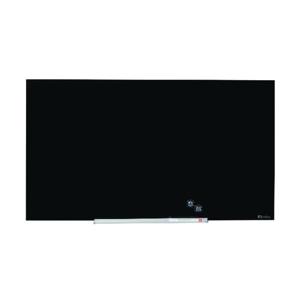 Nobo Widescreen Glass Whiteboard 85 inch Black 1905182