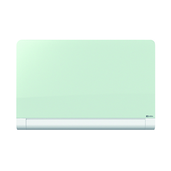 Glazed Nobo Widescreen Rounded Glass Whiteboard 45 inch White 1905191