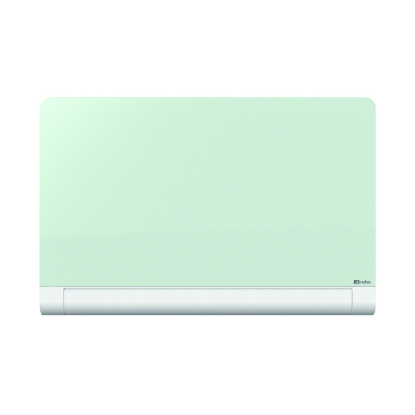Glazed Nobo Widescreen Rounded Glass Whiteboard 57 inch White 1905192