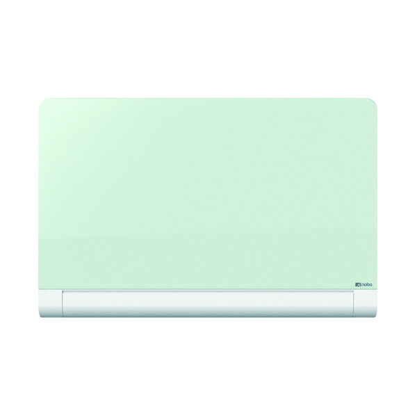 Glazed Nobo Widescreen Rounded Glass Whiteboard 85 inch White 1905193