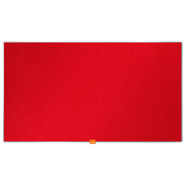 "Nobo Widescreen 40"" Red Felt Noticeboard, 890 x 500mm"