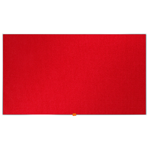 "Nobo Widescreen 55"" Red Felt Noticeboard, 1220 x 690mm"