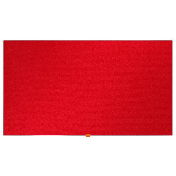 """Nobo Widescreen 55"""" Red Felt Noticeboard, 1220 x 690mm"""